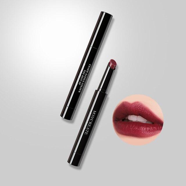 2019 lápiz labial mate atractivo resistente al agua de larga duración maquillaje lápiz labial profesional maquillaje mate lápiz labial mujer chica belleza labios