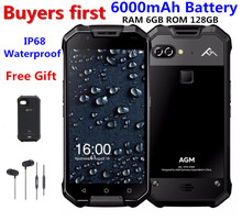 AGM X2 IP68 Waterproof Mobile Phone 5.5″ 6GB RAM 64GB/128GB ROM Android 7.1 MSM8976SG Octa Core 12.0MP 6000mAh NFC smartphone