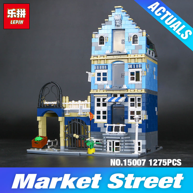 Lepin 15007 Factory City Street European Market Model Building Block Set Bricks Kits DIY Compatible 10190 Educational child toys  trendyangel 15007