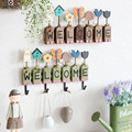 Modern Listed Welcome Hanging clothes hooks keys clothing coffee shop wall living bedroom home decoration wall ornaments