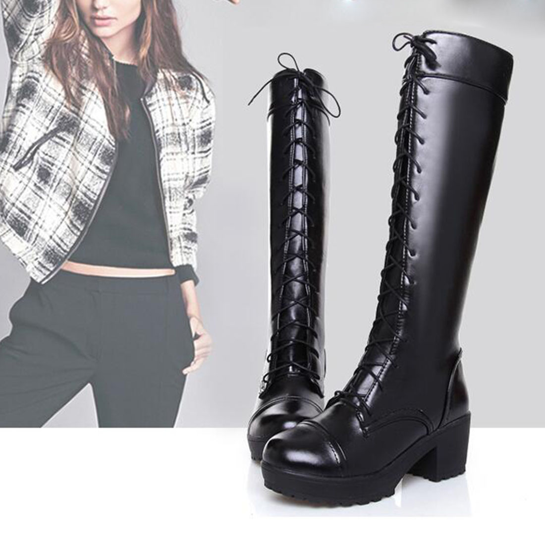 Popular Lacing Combat Boots-Buy Cheap Lacing Combat Boots lots ...