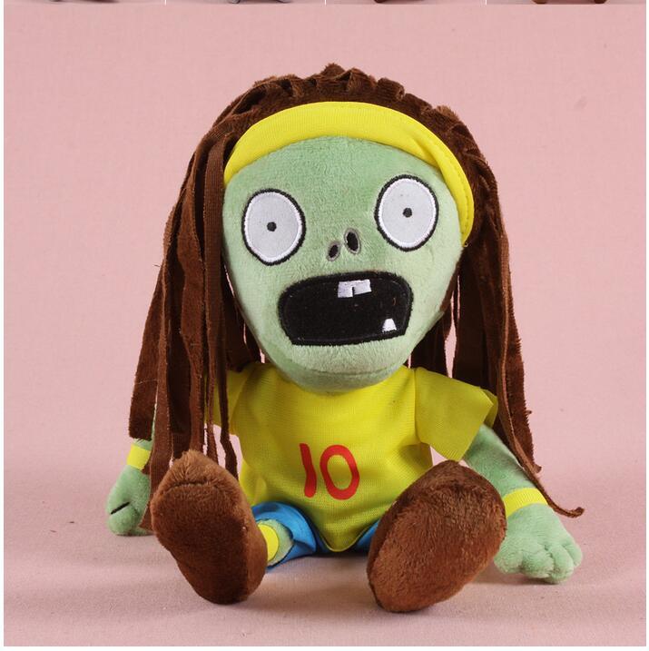 2017 Jaunais ierodas karstā pārdošanā Augi vs Zombies Plīša rotaļlietas 30cm Zombiju plīša rotaļlieta (cepure zombie)