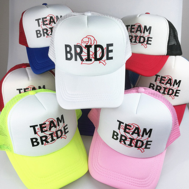 035fbce77e1 C Fung Neon CUSTOM Bachelorette Hats FLORAL rose background with Custom  Saying baseball Hat caps Bridal Party trucker hats