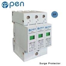 купить OPEN LBO-C40 Series Household Surge Protective Device SPD 3P 20kA-40kS 380VAC/385VAC Low Voltage Arrester Device Protector дешево