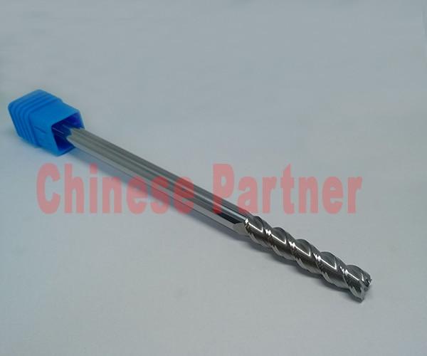ФОТО 5pcs/lot  12mm hrc50 D12*100*D12*150L 3Flutes end mill for Aluminum Spiral Bit Milling Tool Carbide CNC Endmill Router bit