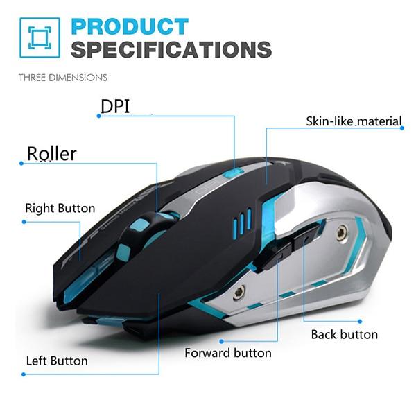 AZZOR Rechargeable Wireless Gaming Mouse AZZOR Rechargeable Wireless Gaming Mouse HTB1heYuSXXXXXawXXXXq6xXFXXX2