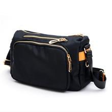 Нейлоновая сумка, многослойная оксфордская сумка, модная сумка на одно плечо, косая полоса, Женская Повседневная сумка