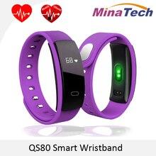 Оригинальный QS80 Bluetooth Smart Браслет сердечного ритма и Приборы для измерения артериального давления мониторинг сна для IOS Android-смартфон