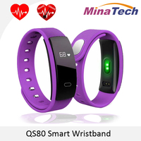 Original QS80 Bluetooth Smart Band Bracelet Wristband Heart Rate And Blood Pressure Sleep Monitoring For IOS