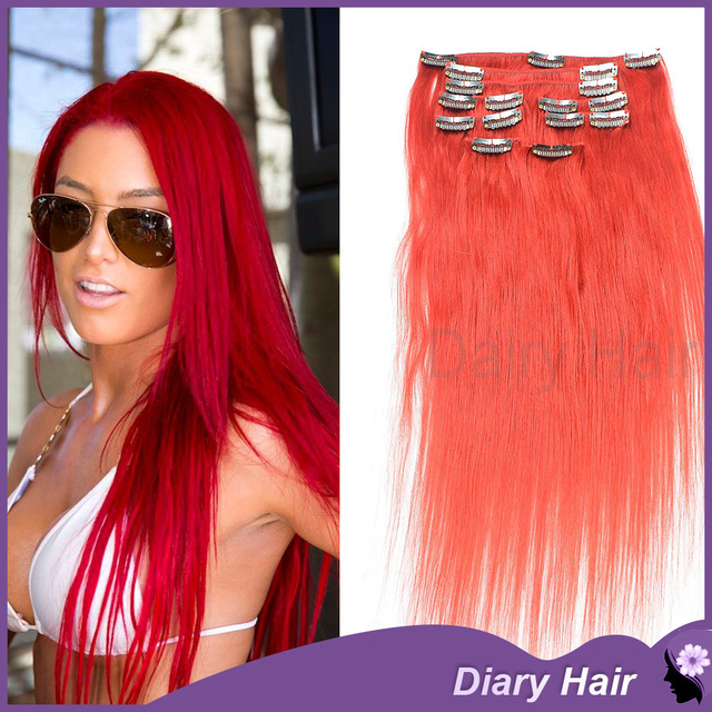 6a Grade Clip In Human Hair Extensions Silky Straight Cheap Remy
