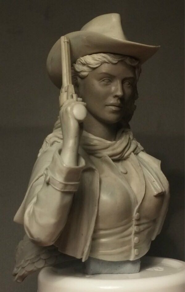 1/9 Resin bust model kit  Cowgirl  Unpainted and  unassembled Free shipping  273D1/9 Resin bust model kit  Cowgirl  Unpainted and  unassembled Free shipping  273D