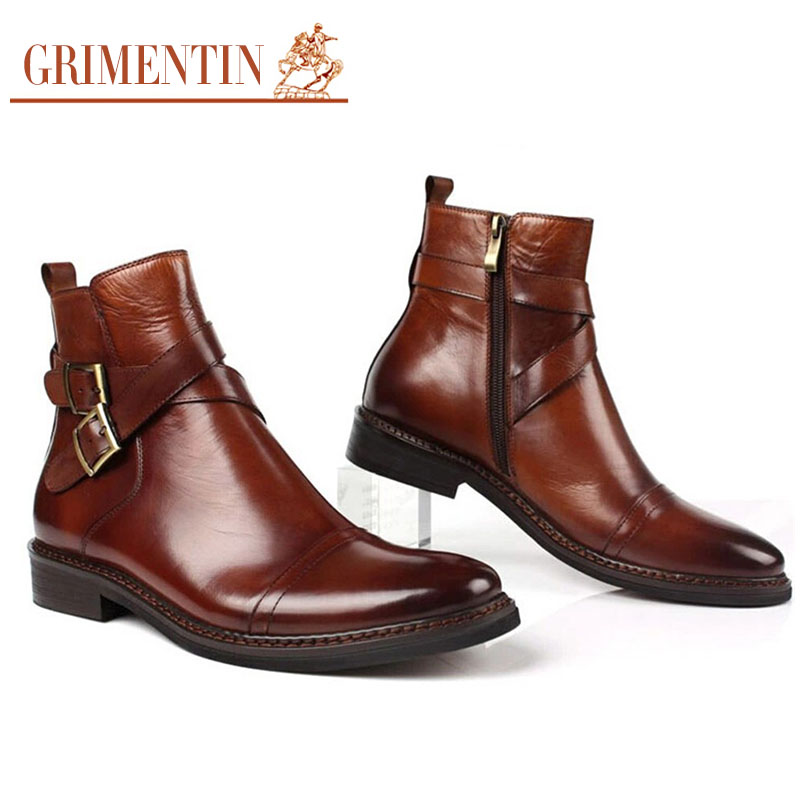 GRIMENTIN fashion UK unique best ankle boots for men shoes casual ...