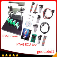 KTAG K TAG ECU Programmer Tool ECU Chip 6 Languages + bdm frame with full adapter support more ecu Fits For FGTECH bdm100 kess