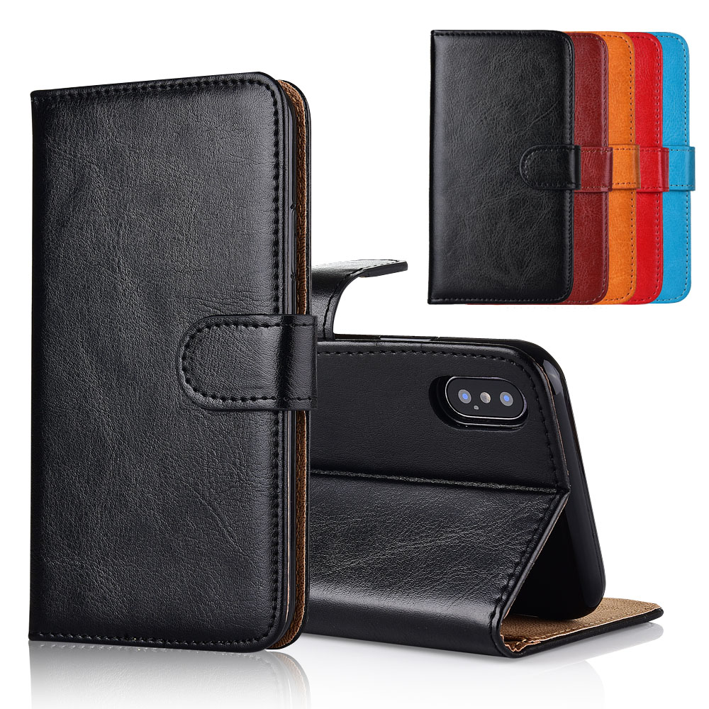For Philips S337 Case cover Kickstand flip leather Wallet case With Card Pocket