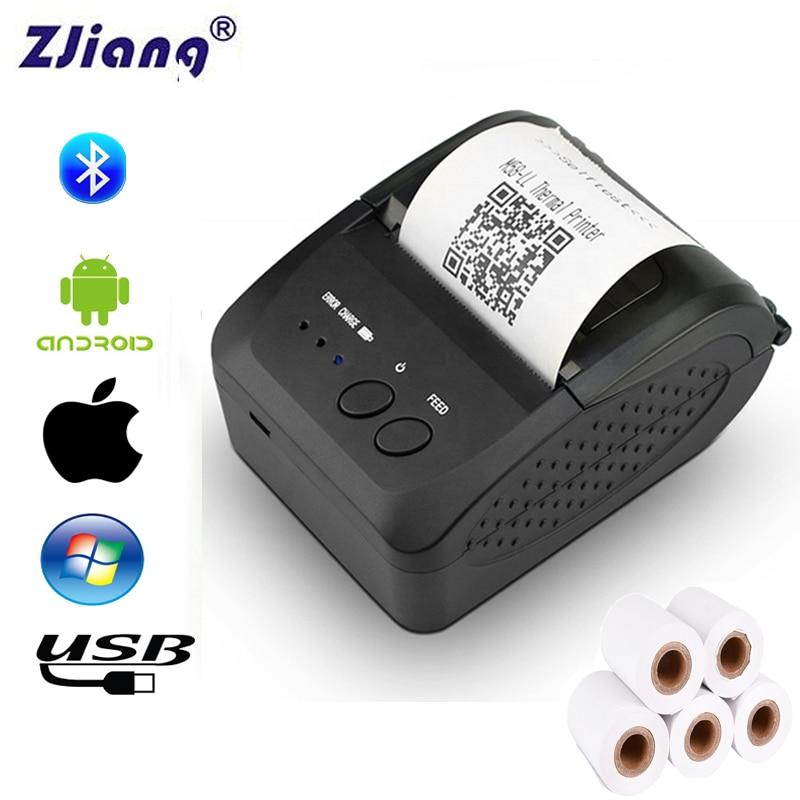 Mini Bluetooth Printer Thermal Printer Pocket portable ticket receipt For Mobile Phone Android iOS Windows