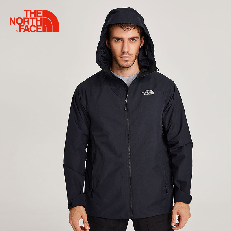 The North Face men's hiking jacket wear resistant hooded comfortable waterproof Outdoor sports trekking camping clothes 3O87