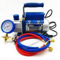 150W Vacuum pump FY 1H N Air conditioni Add fluoride tool Vacuum pump set With refrigerant table Pressure gauge Refrigerant tube