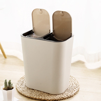 Dry and wet separation trash can double barrel classification garbage can living room kitchen bathroom large trash bin mx7181032|Waste Bins| |  -