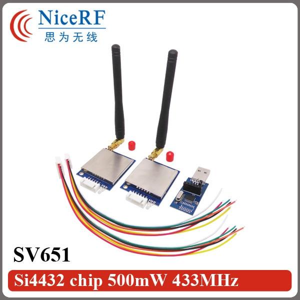 NiceRF- 2PCS / Lot SV651 433MHz TTL 인터페이스 500mW 27dBm - 통신 장비 - 사진 1