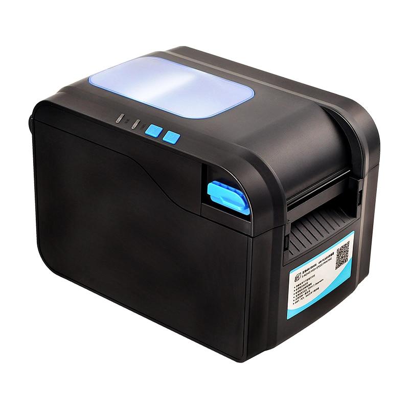152mm/s speed Thermal barcode printer Label printer Qr code printer can print 20mm 82mm width paper USB port
