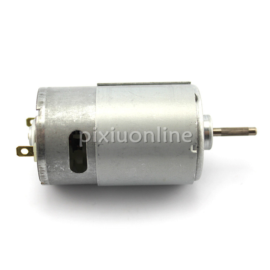 J673b Model <font><b>550</b></font> Long Output Shaft DC <font><b>Motor</b></font> <font><b>12V</b></font> 16000rpm 1.32A Free USA Shipping image