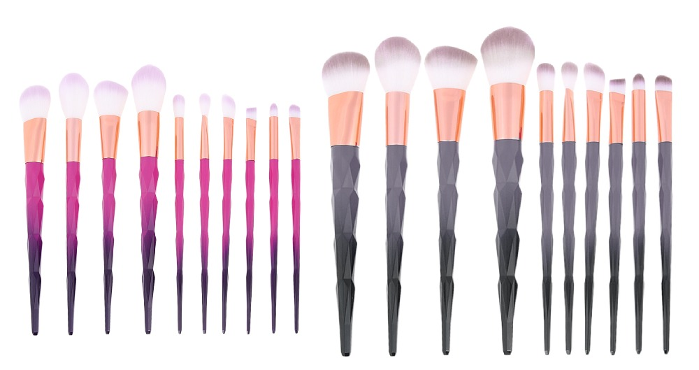 10pcs Makeup Brushes Set Eye Makeup Powder Contour Concealer Eyeshadow Blush Brush Diamond Shape Cosmetic Make Up Brushes kit new store free shipping beauty and the beast rose gold makeup brush cosmetic brush woman gift eyeshadow contour concealer
