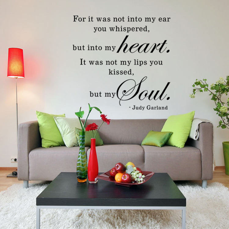 Aw9513 Valentine S Day Quotes Wall Decals Quote Decorations Living Room Sticker Bedroom Wallstickers Couples Room