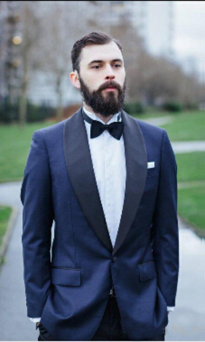 Navy blue suit man / Groom wear wedding dress / customluxury man ...