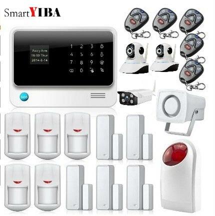SmartYIBA WI FI открытый сетевых камер наблюдения GSM и WI FI DIY умный дом охранной сигнализации Системы двери Сенсор мерцающий Siren