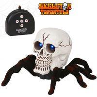 So Scary RC Skull Spider Remote Control Araneid Shine Eyes Funny Prank Kids Toy Gift Halloween MAR 20
