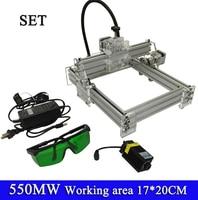 NEW 500mw Blue Violet Laser Engraving Machine Mini DIY Laser Engraver IC Marking Printer Carving Size