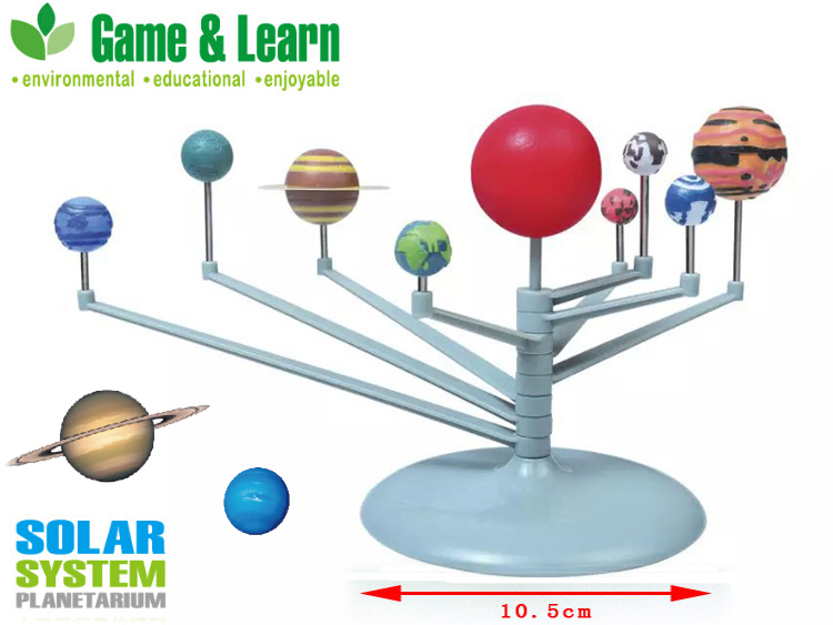 DIY 3D Simulation Solar system Nine planets Scale Model Teaching model Science Learning Eductional Toys The