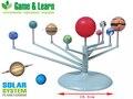 Diy 3d modelo de ensino modelo de simulação escala de nove planetas do sistema solar ciência aprendizagem eductional brinquedos os nove planetas