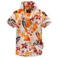 Algodón 100% camisa floral camisa hawaiana aloha camisa de chico T1510