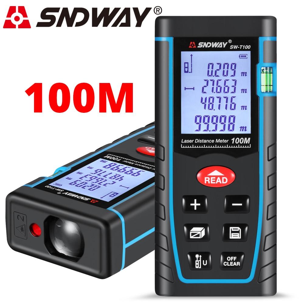 SNDWAY Télémètre Laser Roulette 40 M 100 M Laser Mètre de Distance Laser Mètre de Distance Règle Ruban À Mesurer