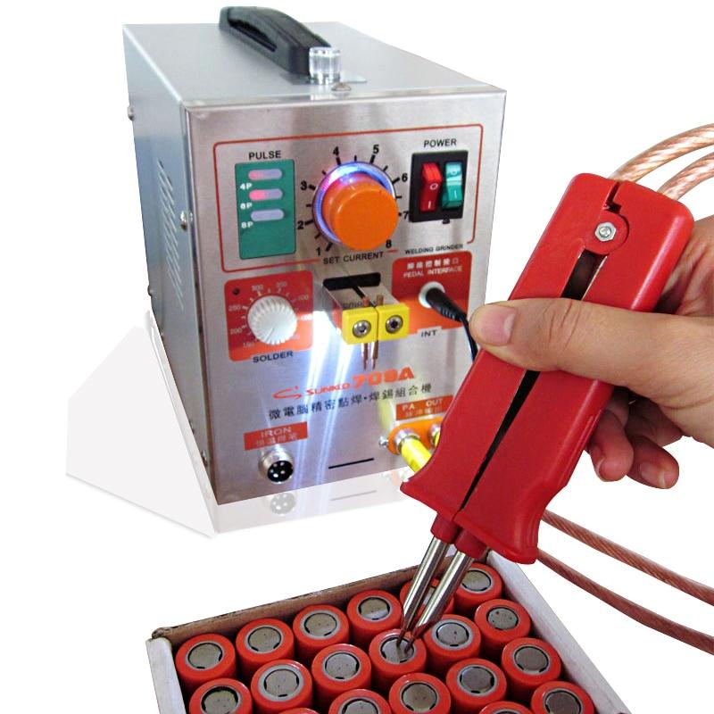 SUNKKO709A Batterie Soudeuse 1.9kw Fer À Souder Station de Soudage par points Machine 18650 16430 14500 batterie Welde macheing