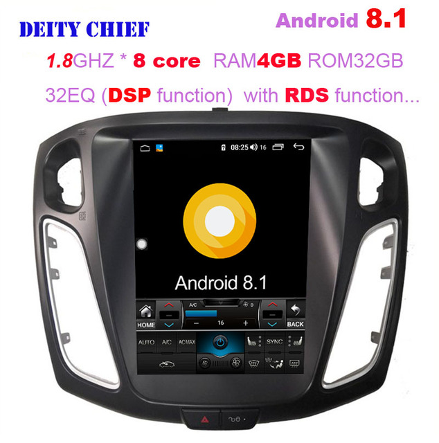 8 cores Android 8.1 Car player for Ford Focus 2012-2017 Quad Core GPS Navigation Vertical screen