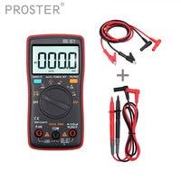 Proster CAT III 600V Digital Multimeter 9999 Counts + Test Leads +10A Banana Plug Test Cable Auto Range Backlight AC/DC Voltage