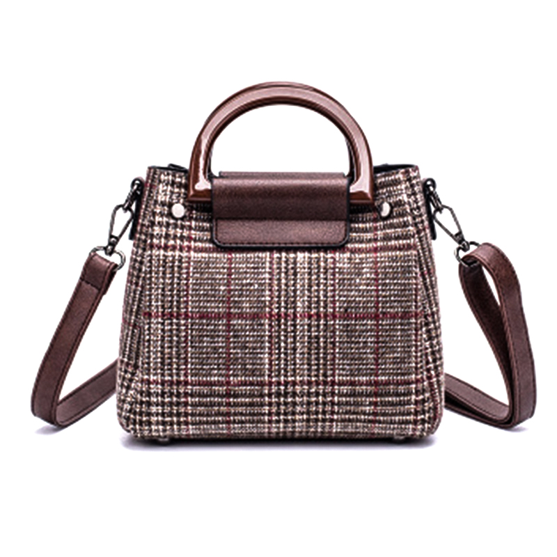 Arsmundi Woman Bag 2018 Lattice Pattern Handbag Fashion Shoulder Bag Temperament High Quality All-match Satchel Ladies Bags