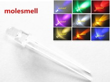 10pcs 5mm round Red Yellow Blue Green White Orange Purple Pink Warm white water clear lens LED light lamp
