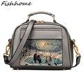 Women Handbags Cartoon Style Leather Messenger Bags Luxury Handbags Fashion Shell Bag Women Shoulder Bags Bolsas Feminina GH640Z