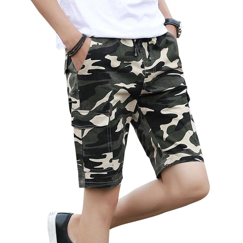 HanHent الصيف أزياء التمويه السراويل - ملابس رجالية