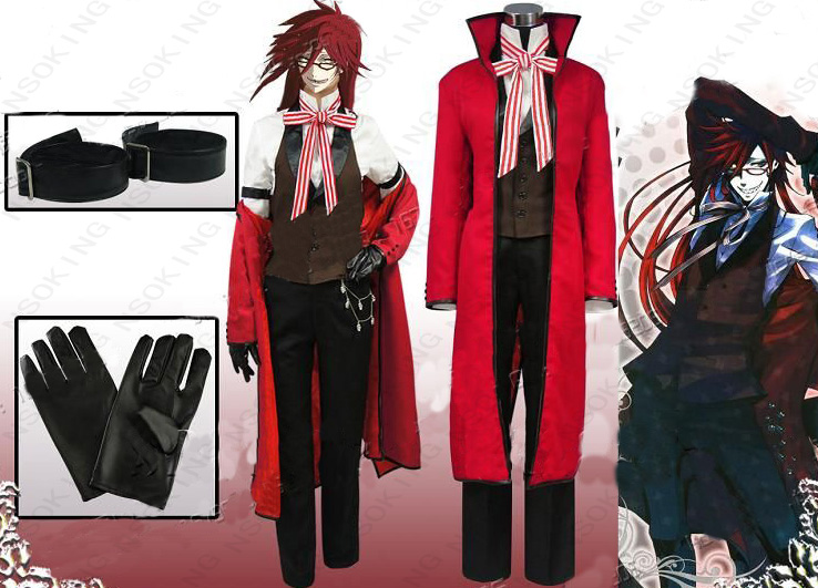 Black Butler Cosplay Grell Sutcliff Costume Tailor Made