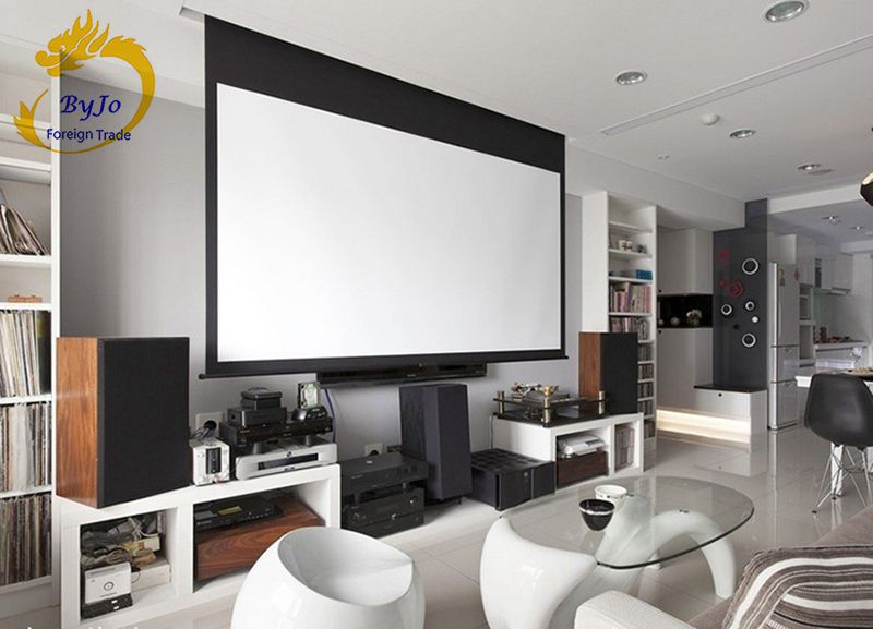 Электрические шторы 60 72 84 100 дюймов 16:9 или 4:3 моторизованный экран для всех LED LCD DLP лазерный проектор электрический проектор экран - 2
