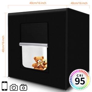 Image 2 - SAMTIAN صندوق إضاءة 40 سنتيمتر علبة الصور للطي سوفت بوكس صندوق مع صور 3 ألوان خلفية للتصوير استوديو خيمة عكس الضوء صندوق