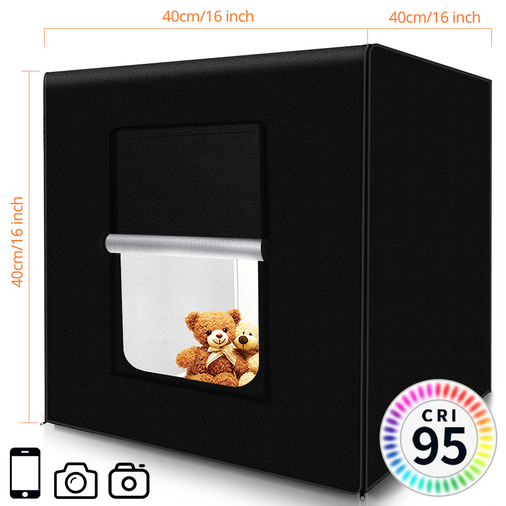 Image 2 - SAMTIAN Light Box 40CM Photo box Fold softbox tent With 3 Colors Background For Jewelry Toy Photography photo lightbox LED lightTabletop Shooting   -
