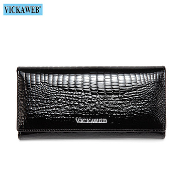 Alligator Patent Leather Women's Wallet Bags and Wallets New Arrivals Women's Wallets Color: New Black Ships From: Russian Federation