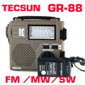 Горячая продажа! TECSUN GR-88 FM/MW/SW Полный Диапазоне Длин Волн Радиоприемник Портативный Аккумуляторная Радио С Встроенный Динамик Бесплатная Доставка доставка
