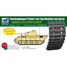 BRONCO AB3540 1/35 Panther(Late Type) Workable Track Link Set   Scale Model Kit