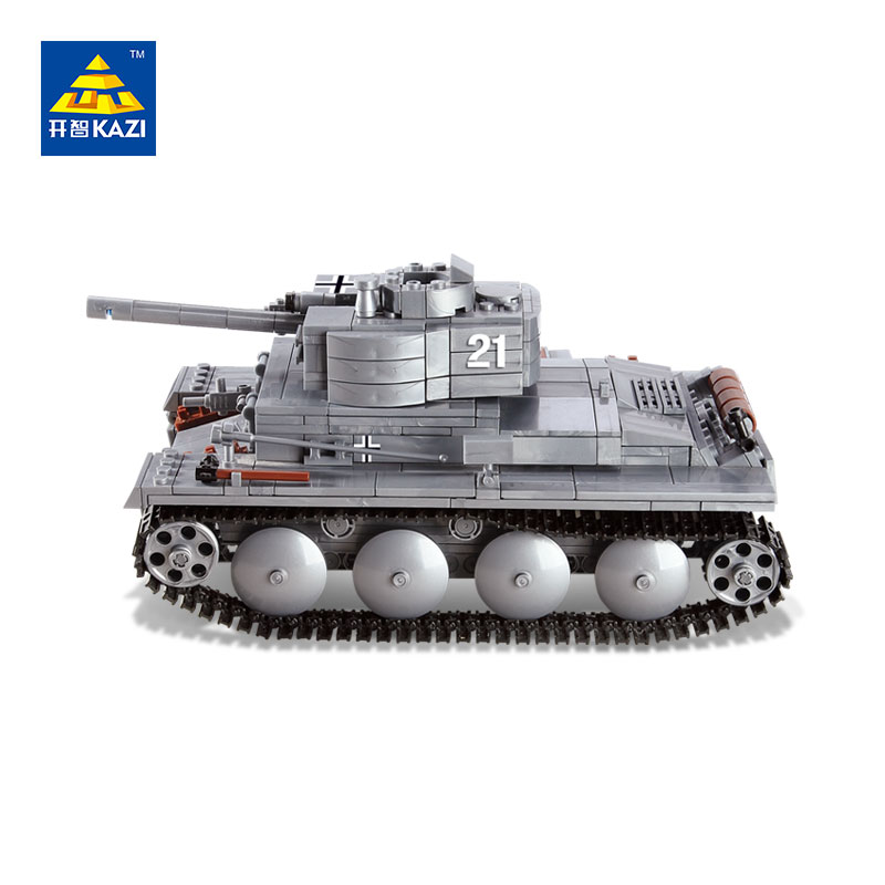 KAZI Military War Tank 3D Model PZKPFW-II Building Blocks Sets DIY Educational Christmas Toy For Children Gifts Compatible Legoe military star wars spaceship aircraft carrier helicopter tank war diy building blocks sets educational kids toys gifts legolieds